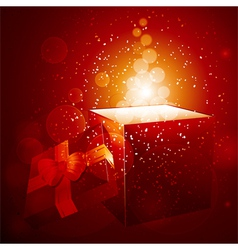 Glowing Christmas gift background vector image vector image