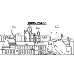 india patna architecture line skyline vector image