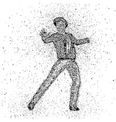 Male figure made with dots vector