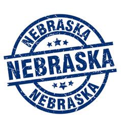 Nebraska blue round grunge stamp vector