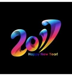 New year 2017 celebration background vector