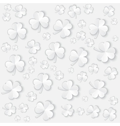 Paper Clover leaves pattern background for vector image