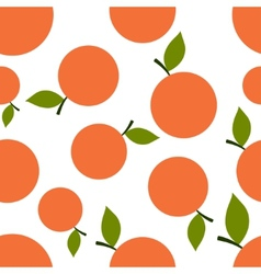 Pattern Silhouette Mandarines vector image vector image