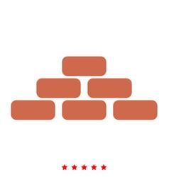 Pyramid icon flat style vector