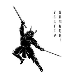 Samurai silhouette vector image