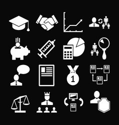 Set icons of human resources management vector image