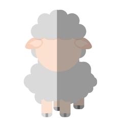 sheep animal farm isolated icon vector image vector image