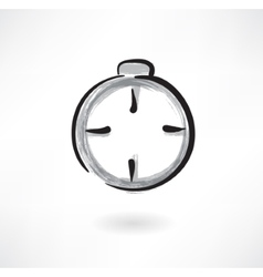 stopwatch grunge icon vector image vector image