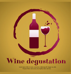 Template design suitable for wine tasting vector
