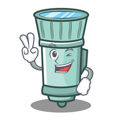 Two finger flashlight cartoon character style vector