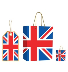 uk bag and tag vector image vector image