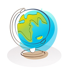 A desktop globe is placed vector