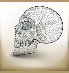 Decorated skull vector