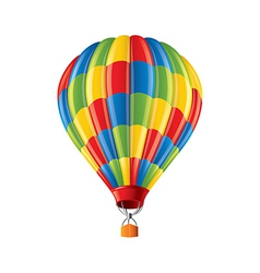 Hot air baloon isolated vector