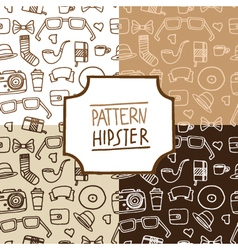 Pattern hipster set number 1 vector