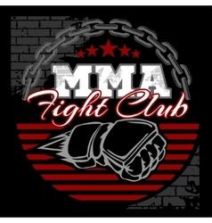 MMA mixed martial arts emblem badges vector image