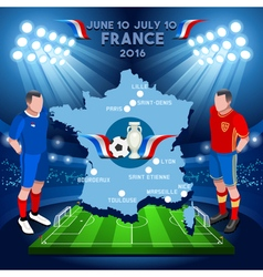 France 2016 euro championship vector
