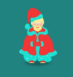 Little santa claus isolated vector