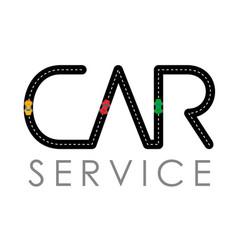 car service logo template vector image vector image