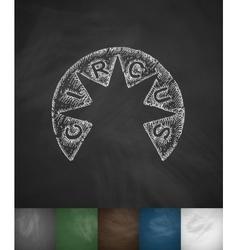 Circus icon hand drawn vector