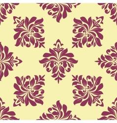Crimson floral seamless pattern vector