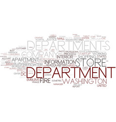 Department word cloud concept vector