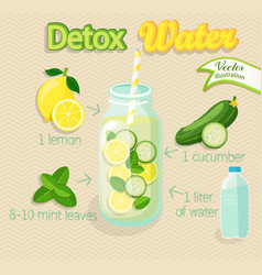 Detox cocktail vector