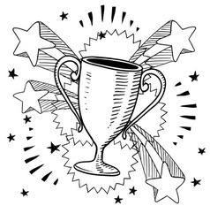 Doodle pop trophy vector