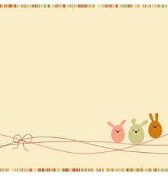 Easter card with copy space EPS 8 vector image vector image