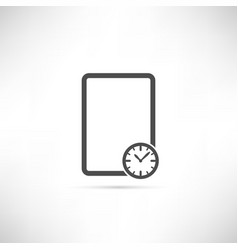 Empty schedule icon vector