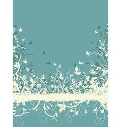 floral grunge background vector image vector image