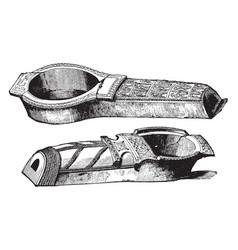 Glazed coffins from warka vintage vector
