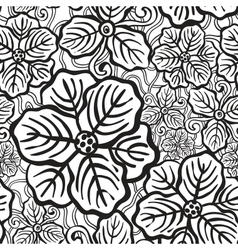Hand drawn floral wallpaper vector image