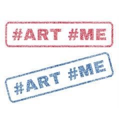Hashtag art hashtag me textile stamps vector