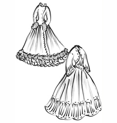 Historical clothes vector