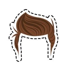 Isolated man hair design vector