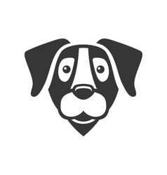 Labrador Retriever Dog Head Icon Logo vector image