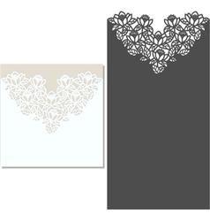 Laser cut envelope template for invitation wedding vector image vector image