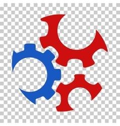 Mechanics gears icon vector