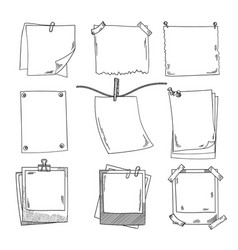 Photo frames and different blank notepaper vector