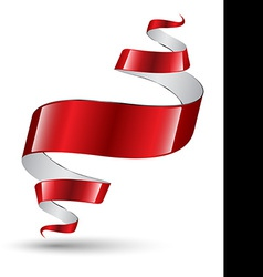 Red ribbon modern art banner vector