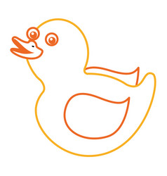 Rubber duck toy shower play icon vector