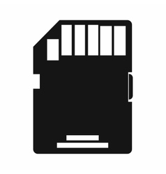 Sd memory card icon simple style vector