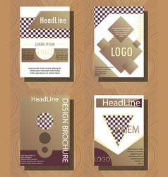 Set of layout background set for art template vector