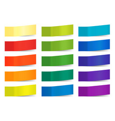 Sticky notes isolated on white colored vector
