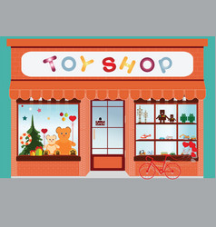 toy shop window display vector image