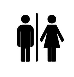 wc toilet icon vector image vector image