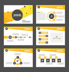 Yellow Orange presentation templates Infographic vector image