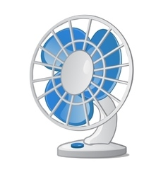 Desktop small fan with blue blades vector