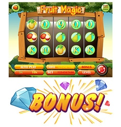 Game design with fruit magic vector